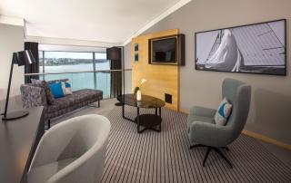 Le Meridien Hotel Hamburg Panorama Suite Livingroom