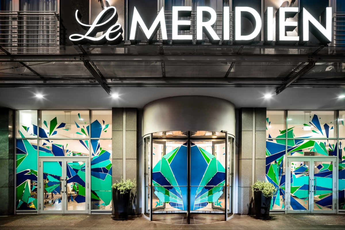 Le Meridien Hotel München Außenansicht Eingang