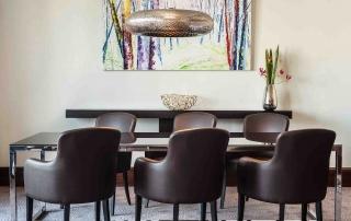 Wohnbereich der Diplomaten Suite im Le Méridien Hotel Stuttgart
