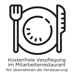 Kostenfreie Verpflegung im Mitarbeiterrestaurant (Versteuerung übernehmen wir)