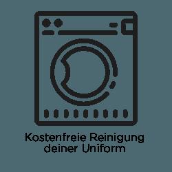 Kostenfreie Reinigung Deiner Uniform