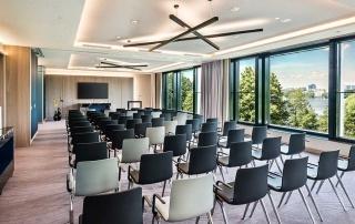 Tagung im Hotel Le Méridien Hamburg - Meeting Raum über der Alster
